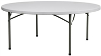 "72"" Round Wholesale Prices for Round Plastic Folding Tables,"
