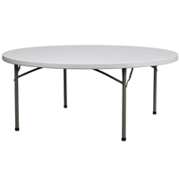 "72"" Round Wholesale  Round Plastic Folding Tables,"