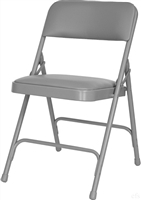 Cheap Gray  Padded Vinyl Metal Folding Chair,