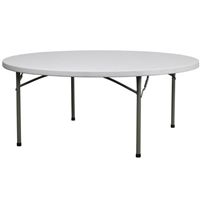 "72"" Round Plastic Table -FREE SHIPPING, MIAMI Cheap Wholesale  Round Plastic Folding Tables,"