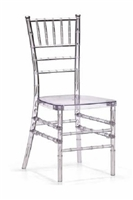 NEVADA Wholesale Clear Ice Chivari Chairs, Resin Cheap Chiavari Chivari Chairs, Stacking Resin Chiavari Chairs