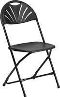Black Fan Folding Chair Discounted