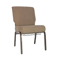 "Tan 21"" Wide Church Chair, Fabric Chapel Wholesale Chairs, Factory Direct Pew Chairs, Church Chapel Chairs"
