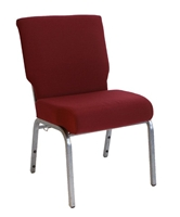 "<span style=""font-size: 14pt; color: rgb(0, 0, 205);"">Burgundy 21"" Wide Chapel Chair</span>"