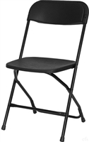 Black Plastic Folding Chair - Cheap Prices Poly Folding Chair - Discount Prices Stacking Chais