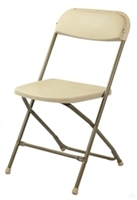 Free Shipping Cheap Beige Folding Chairs | Cheap Poly Folding Discount Chairs