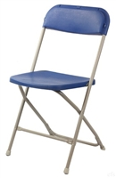 FLORIDA Blue Folding Chairs | Plastic Folding Chairs | Plastic Stacking Chairs