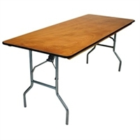 30 x 72 Plywood Folding Banquet Tables - Folding Banquet Wood Tables,