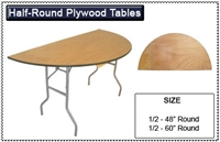 Plywood 1/2 Moon Folding Table
