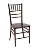 Cheap Wholesale Mahogany Resin Steel Core Chiavari  Chair