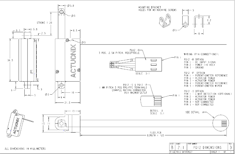 pq12 p linear actuator with feedbackLinear Actuator Wiring Diagram On Potentiometer Wiring Diagram #16