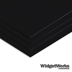 "BLACK Styrene Thermoform Plastic Sheets<br> 0.020"" x 12"" x 12"" Sheets - 12 Piece Bundle"