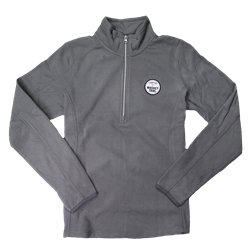 Women's Fleece 1/2 Zip Pullover - Pearl Grey