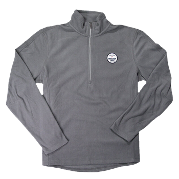 Men's Fleece 1/2 Zip Pullover - Pearl Grey