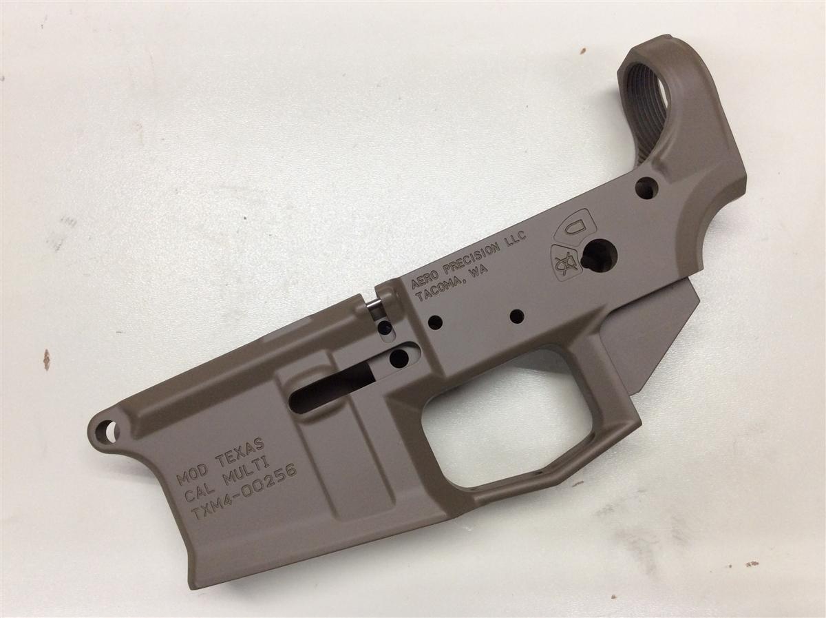 M4E1 Stripped Lower Receiver, Special Edition: Texas - FDE Cerakote