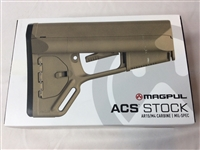 The ACS (Adaptable Carbine Stock) is a drop-in replacement buttstock for AR-15/M4 carbines with MIL-SPEC receiver extensions. Dual, rear accessible, water-resistant battery storage tubes store up to three CR123A lithium or two AA batteries.