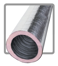 "12"" X 25' R6.0 Flex Duct w/ Raw Ends"