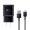 Samsung Genuine Fast Charge USB-C 15W Wall Charger - Black- Galaxy Note8, Galaxy S8, and Note 9 Galaxy S8+ Inbox Replacement - Retail Packaging
