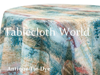 Antique Tie Dye Tablecloths