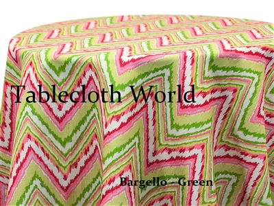 Bargello Green Custom Print Tablecloth