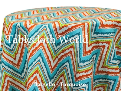 Bargello Turquoise Custom Print Tablecloth