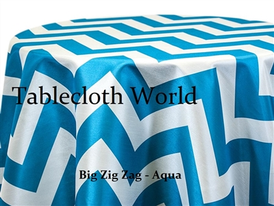 Big Zig Zag Aqua Tablecloth