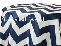 Big Zig Zag Navy Tablecloth