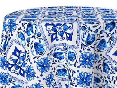 Blue Bows Custom Print Tablecloths