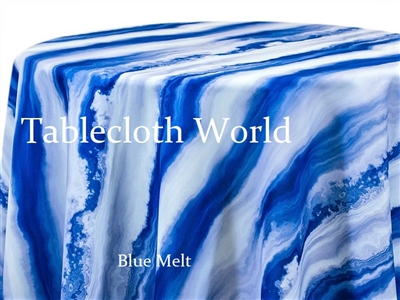 Blue Melt Custom Print Tablecloths