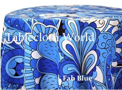 Fab Pattern Blue Custom Print Tablecloths