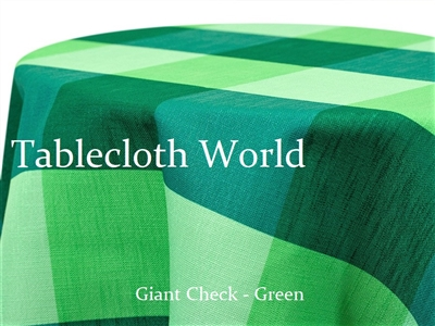 Giant Check Green Custom Print Tablecloth