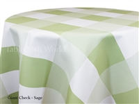 Giant Check Sage Custom Print Tablecloth