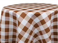 Gingham Check Ginger Custom Print Tablecloths