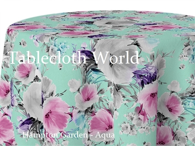 Hampton Garden Aqua Tablecloths