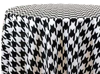 Large Houndstooth Custom Print Tablecloths