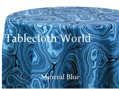 Mineral Blue Custom Print Tablecloths
