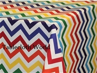 Multi Chevron Custom Print Tablecloths