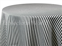 Pinstripe Black Print Tablecloths