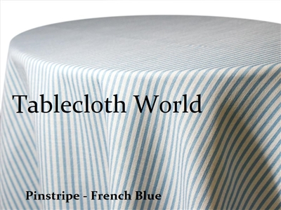Pinstripe French Blue Print Tablecloths