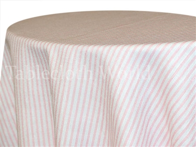 Pinstripe Rose Custom Print Tablecloths
