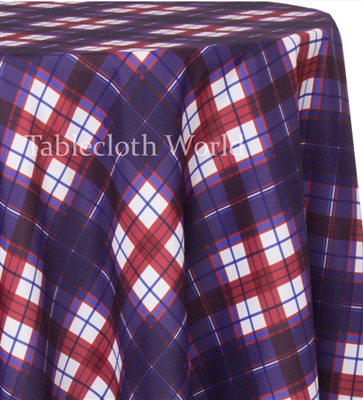 Plaid Stained Glass Tablecloths