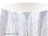 Satin Diamonds Gold Tablecloth
