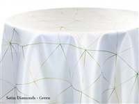Satin Diamonds Green Tablecloth