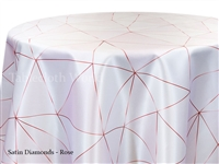 Satin Diamonds Rose Tablecloth