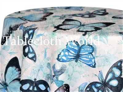 Big Blue Butterflies Print Tablecloths