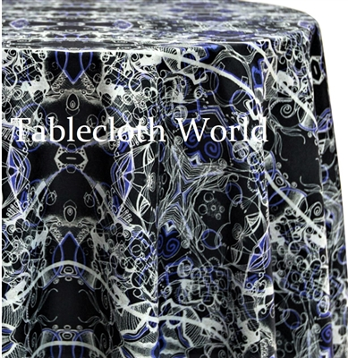 Black Crystal Custom Print Tablecloths