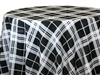 Black and White Plaid Tablecloths