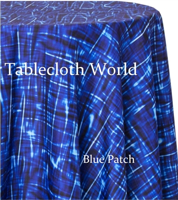 Blue Patch Custom Print Tablecloths