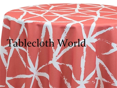 Brush White on Clay Print Tablecloths