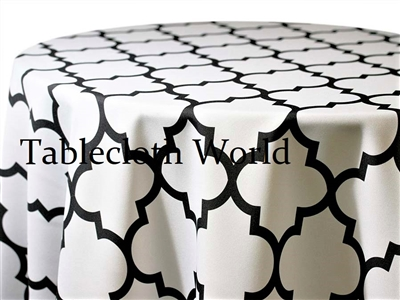 Cameo Print Black on White Tablecloths